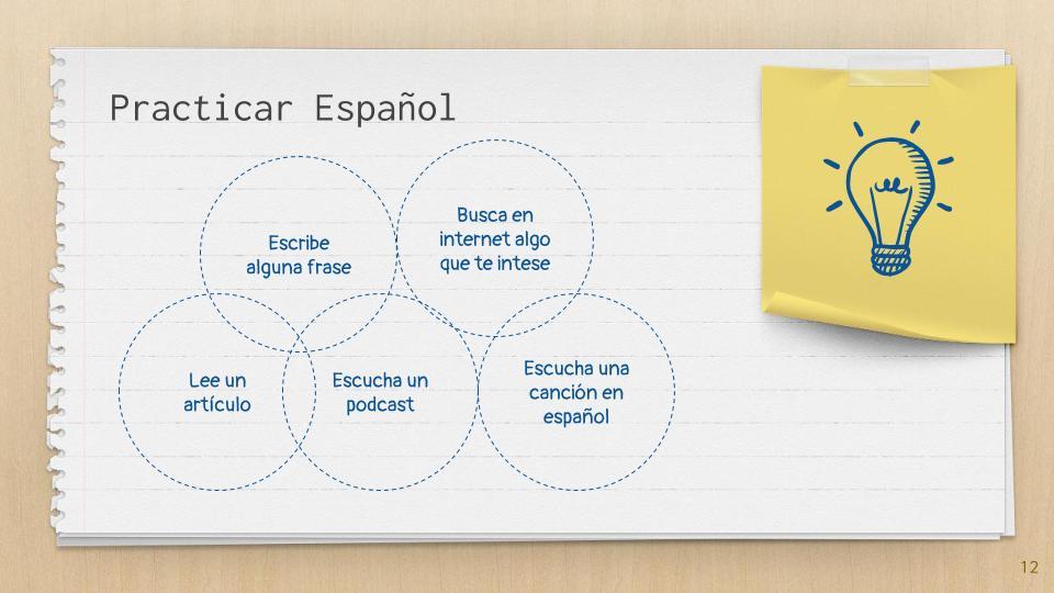 Ideas para practicar español
