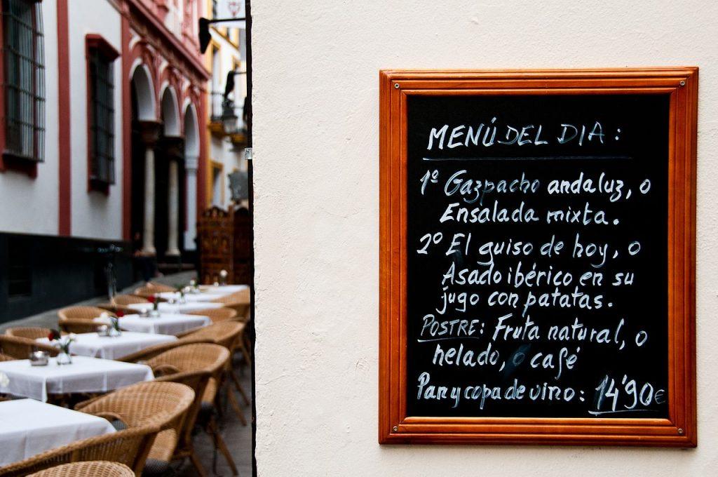 Menú del día en Sevilla
