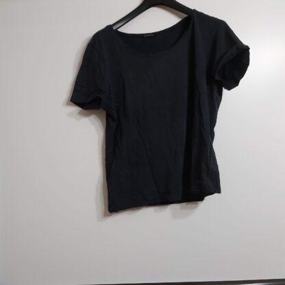 Camiseta sde señora manga corta talla grande. negra XL