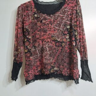 Floral palo camiseta tallas grandes otoño
