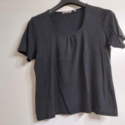 Camiseta señora negra manga corta XL