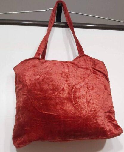 Bolso rojo terciopelo rojo
